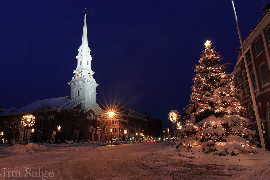 Christmas in Market Square, Portsmouth, New Hampshire.