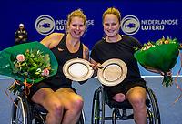 Rotterdam, Netherlands, December 16, 2017, Topsportcentrum, Ned. Loterij NK Tennis, Wheelchair final: Aniek van Koot (NED) and Michaela Spaanstra (NED)<br /> Photo: Tennisimages/Henk Koster