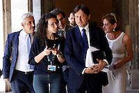 Dario Stefano, Presidente della Giunta per le Immunita' Parlamentari circondato dai giornalisti<br /> Roma 18-06-2015 Senato, Sant'Ivo alla Sapienza. Giunta per la Immunita' Parlamentari. Audizione del Senatore Azzolini in merito al crac della Casa Divina Provvidenza.<br /> Photo Samantha Zucchi Insidefoto