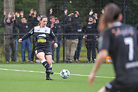 Valentine Hannecart (8) of Eendracht Aalst pictured during a female soccer game between Sporting Charleroi and Eendracht Aalst on the 8th matchday in play off 2 of the 2020 - 2021 season of Belgian Scooore Womens Super League , tuesday 18 th of May 2021 in Marcinelle , Belgium . PHOTO SPORTPIX.BE | SPP | STIJN AUDOOREN