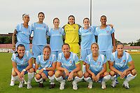 Sky Blue FC starting XI. Sky Blue FC and the Washington Freedom played to a 4-4 tie during a Women's Professional Soccer match at Yurcak Field in Piscataway, NJ, on July 15, 2009.