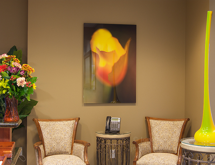 Print face-mounted onto acrylic at a real estate office in Henderson, Nevada.