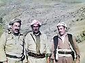 Iraq 1983      <br /> In Qandil, from left to right, Failak Eddin Kakai, Mustafa Nerwey and Najmeddin Yousefi  <br /> Irak 1983 <br /> A Qandil, de gauche a droite, Failak Eddin Kakai, Mustafa Nerwey et Najmeddin Yousefi
