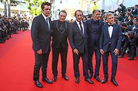 Christoph Waltz, Mads Mikkelsen, Vincent Lindon, Benicio del Toro et Benoit Magimel sur le tapis rouge pour la soirée dans le cadre de la journée anniversaire de la 70e édition du Festival du Film à Cannes, Palais des Festivals et des Congres, Cannes, Sud de la France, mardi 23 mai 2017.