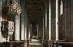 Germany, Bavaria, Middle Franconia, Dinkelsbuehl: town parish church St George, interior | Deutschland, Bayern, Mittelfranken, Dinkelsbuehl: Stadtpfarrkirche St. Georg, innen