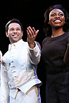 """Corbin Bleu and Adrienne Walker during the Broadway Opening Night Curtain Call for """"Kiss Me, Kate""""  at Studio 54 on March 14, 2019 in New York City."""