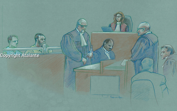FILE IMAGE - Eric Daudelin attend his trial, February 24, 2014 at Laval justice Hall.<br /> <br /> Nearly 20 years after her death, a jury has found Eric Daudelin guilty of the first-degree murder of nine-year-old Joleil Campeau.<br /> <br /> NOTE TO EDITOR : He is not the same Eric Daudelin, the artist.<br /> <br /> <br /> <br /> Photo : Agence Quebec Presse - Atalante