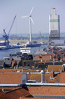 GERMANY Husum, windmill producer company Repower in harbour / DEUTSCHLAND Husum, Verladehafen fuer Windkraftanlagen der Firma Repower