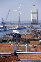 GERMANY Husum, windmill producer company Repower in harbour / DEUTSCHLAND Husum, Verladehafen fuer Windkraftanlagen der Firma Repower