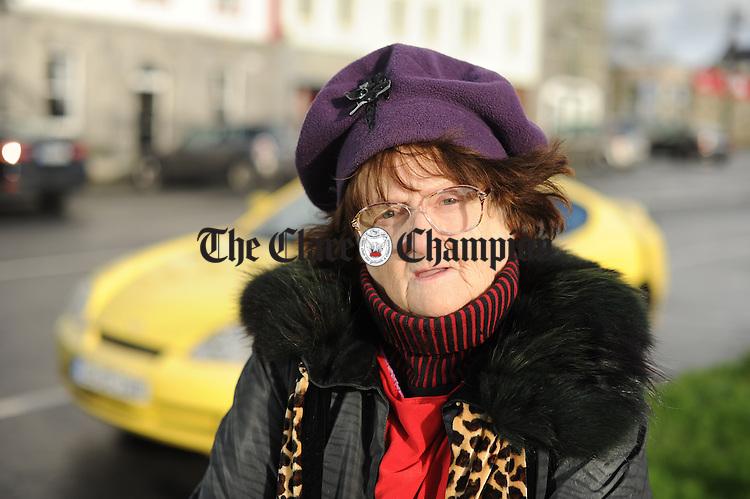 Bridget Killane, originally from Co. Limerick but now living at Killimer, pictured in Kilrush. Photograph by John Kelly.
