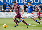 Queen of the South v St Johnstone…18.08.18…  Palmerston    BetFred Cup<br />Matty Kennedy gets away from Owen Bell<br />Picture by Graeme Hart. <br />Copyright Perthshire Picture Agency<br />Tel: 01738 623350  Mobile: 07990 594431