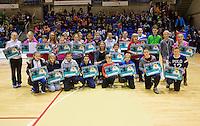 03-01-13, Rotterdam, Tennis, Selection ballkids for ABNAMROWTT, Winners with Esther Vergeer