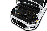 Car Stock 2019 Hyundai Veloster R-Spec 2 Door Coupe Engine  high angle detail view