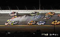 Feb 07, 2009; Daytona Beach, FL, USA; NASCAR Sprint Cup Series driver Greg Biffle (16) spins in front of Jimmie Johnson (48) during the Bud Shootout at Daytona International Speedway. Mandatory Credit: Mark J. Rebilas-