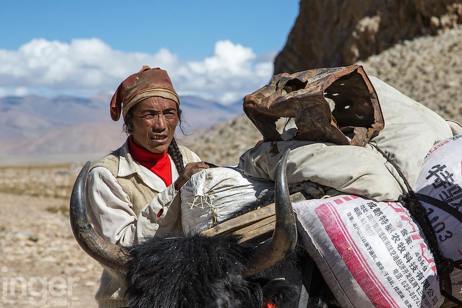 Yak Herder in the Everest Region of Tibet