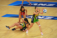Pulse's Claire Kersten takes a pass during the ANZ Premiership netball match between Central Pulse and Mainland Tactix at Te Rauparaha Arena in Wellington, New Zealand on Friday, 9 July 2021. Photo: Dave Lintott / lintottphoto.co.nz
