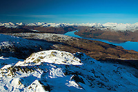 Loch Katrine and the Arrochar Alps from Ben Venue, Southern Highlands, Loch Lomond and the Trossachs National Park, Stirlingshire