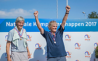 Etten-Leur, The Netherlands, August 27, 2017,  TC Etten, NVK, Winner men's 70+ , Etto van Waning (R) and runner up Hans Adama Van Scheltema<br /> Photo: Tennisimages/Henk Koster