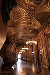Hallway inside of Opera Garnier. Palais Garnier. City of Paris. Paris
