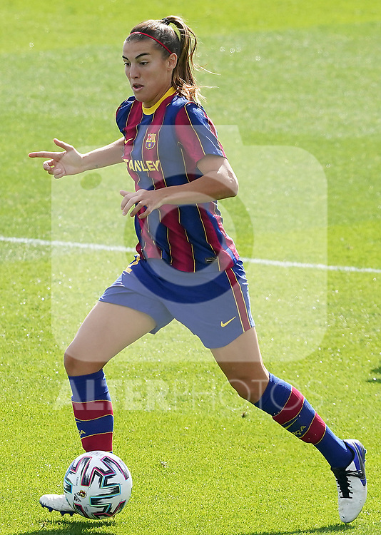 First official match and first classic in the history of women's Real Madrid.<br /> FC Barcelona's Patri Guijarro during Spanish Female League match. October 4,2020. (ALTERPHOTOS/Acero)