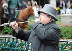 09 October 09: The bugler calls the horses to the post on a very rainy opening day of the fall meet at Keeneland in Lexington, Kentucky.