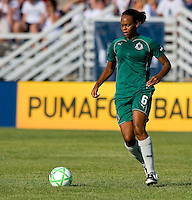 Saint Louis Athletica defender Kia McNeill (6) during a WPS match at Anheuser-Busch Soccer Park, in St. Louis, MO, July 26, 2009.  The match ended in a 1-1 tie.