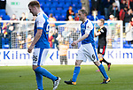 St Johnstone v Partick Thistle…28.04.18…  McDiarmid Park    SPFL<br />Downbeat Liam Craig and Steven Anderson leaves the pitch at full time<br />Picture by Graeme Hart. <br />Copyright Perthshire Picture Agency<br />Tel: 01738 623350  Mobile: 07990 594431
