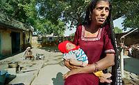 Delhi / India.Scene di vita quotidiana nelle campagne alla periferia di Delhi..Foto Livio Senigalliesi..Delhi / India.Scenes of daily life in the countryside on the outskirts of Delhi.Photo Livio Senigalliesi.