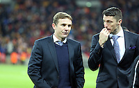 Pictured: Phil Parkinson (L). Sunday 24 February 2013<br /> Re: Capital One Cup football final, Swansea v Bradford at the Wembley Stadium in London.