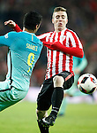 Athletic de Bilbao's Iker Muniain (r) and FC Barcelona's Luis Suarez during Spanish Kings Cup match. January 05,2017. (ALTERPHOTOS/Acero)