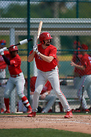 Philadelphia Phillies Luke Miller (30) during a minor league Spring Training game against the Pittsburgh Pirates on March 13, 2019 at Pirate City in Bradenton, Florida.  (Mike Janes/Four Seam Images)
