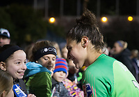 Seattle, WA - Saturday March 24, 2018: Michelle Betos during a regular season National Women's Soccer League (NWSL) match between the Seattle Reign FC and the Washington Spirit at the UW Medicine Pitch at Memorial Stadium. The Seattle Reign FC won 2-1.