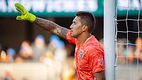 San Jose, CA - Saturday August 03, 2019: Daniel Vega #17 in a Major League Soccer (MLS) match between the San Jose Earthquakes and the Columbus Crew at Avaya Stadium.