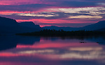 Purple sunrise at Rooster Rock in the Columbia River Gorge