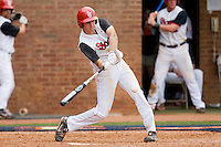 Jeremy Baltz #18 of the St. John's Red Storm takes his swings against the Ole Miss Rebels at the Charlottesville Regional of the 2010 College World Series at Davenport Field on June 6, 2010, in Charlottesville, Virginia.  The Red Storm defeated the Rebels 20-16.  Photo by Brian Westerholt / Four Seam Images