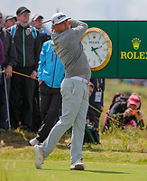 180719 | The 148th Open - Day 1<br /> <br /> Gary Woodland of USA on the 15th tee during the 148th Open Championship at Royal Portrush Golf Club, County Antrim, Northern Ireland. Photo by John Dickson - DICKSONDIGITAL