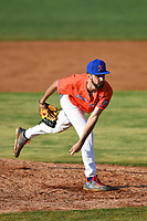 Kingsport Axemen pitcher Kyle Scrape (4) (Hillsborough) during a game against the Bristol State Liners on June 13, 2021 at Boyce Cox Field in Bristol, Virginia. (Tracy Proffitt/Four Seam Images)