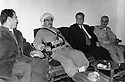 Iraq 1974 <br /> The resumption of hostilities, meeting of Mustafa Barzani with the former Kurdish ministers in Baghdad, Saleh Youssefi and Sami Abdul Rahman and the politician, Fuad Aref <br /> Irak 1974 <br /> La reprise de la lutte armée, le general Barzani entouré de Sami Abdul Rahman et Fuad Aref et Saleh Youssefi, ses ex-représentants a Baghdad
