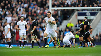 Ben Foden of England has his break away try disallowed during the QBE Autumn International match between England and New Zealand at Twickenham on Saturday 16th November 2013 (Photo by Rob Munro)