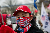 A small crowd of President Trump supporters gather on the west side of the U.S. Capitol in the hours before the Electoral votes are to be counted during a joint session of the United States Congress to certify the results of the 2020 presidential election in the US House of Representatives Chamber in the US Capitol in Washington, DC on Wednesday, January 6, 2021. Congressional Republicans have announced they are going to challenge the Electoral votes from up to six swing states.<br /> CAP/MPI/RS<br /> ©RS/MPI/Capital Pictures