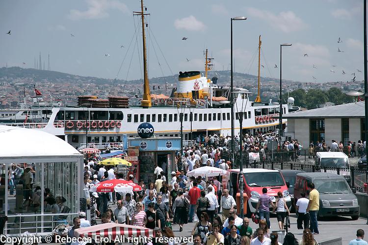 Eminonu at the weekend, Istanbul, Turkey