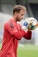 Belgium's goalkeeper Gaetan Coucke pictured during the warm up before a soccer game between the national teams Under21 Youth teams of Belgium and Germany on the 5th matday in group 9 for the qualification for the Under 21 EURO 2021 , on tuesday 8 th of September 2020  in Leuven , Belgium . PHOTO SPORTPIX.BE | SPP | SEVIL OKTEM