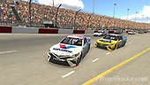 #77: Parker Kligerman, Burton Kligerman eSports, Toyota Camry, #66: Timmy Hill, Motorsports Business Management, Toyota Camry<br /> <br /> (MEDIA: EDITORIAL USE ONLY) (This image is from the iRacing computer game)
