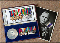 BNPS.co.uk (01202 558833)<br /> Pic: PhilYeomans/BNPS<br /> <br /> Top medal set are Brig Peter Curtis (pictured) which Susan bought recently from a London based medal dealer who had included a false MC, and below General Henry Osborne Curtis's miniatures including his DSO and MC - the original gallantry medal's have disappeared from the museum.<br /> <br /> Military museum in hot water over missing medals..<br /> <br /> A woman whose father and grandfather donated their highly-valuable gallantry medals to an army museum is furious they have disappeared having been suspiciously substituted for duplicates.<br /> <br /> Susan Bond, whose husband Richard is a retired crown court judge, discovered the two Military Cross groups at the The Royal Green Jackets Museum are not the ones bequeathed to them after one set appeared on the open market.<br /> <br /> Mrs Bond confronted the trustees at the museum, whose former Colonel-in-Chief was the Queen, but the 70-year-old has been left dismayed at their 'indifferent' response at the loss which they have been unable to properly explain.<br /> <br /> The owners - the museum based in Winchester, Hants - said they were satisfied that no criminal activity had taken place and the police investigation came to nothing.