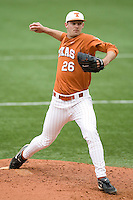 Pitcher Taylor Jungmann of the Texas Lonhorns against the Stanford Cardinal at  UFCU Disch-Falk Field in Austin, Texas on Friday February 26th, 2100.  (Photo by Andrew Woolley / Four Seam Images)