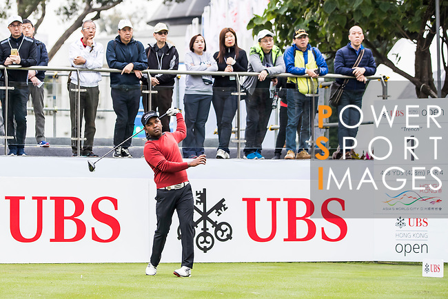 Siddikur Rahman of Bangladesh tees off during the day three of UBS Hong Kong Open 2017 at the Hong Kong Golf Club on 25 November 2017, in Hong Kong, Hong Kong. Photo by Yu Chun Christopher Wong / Power Sport Images