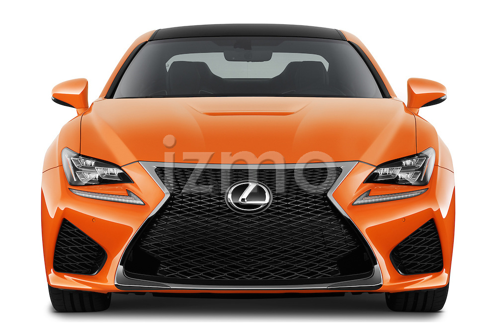 Car photography straight front view of a2015 Lexus RC F 2 Door Coupe Front View