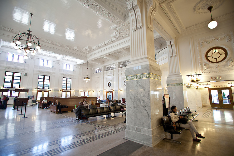 Seattle, King Street Station, 1906, Amtrak train station, fully restored in 2013, Seattle's only railroad station,