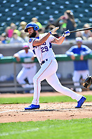 Tennessee Smokies starting pitcher Trevor Clifton (29) swings at a pitch during a game against the Jackson Generals at Smokies Stadium on April 11, 2018 in Kodak, Tennessee. The Generals defeated the Smokies 6-4. (Tony Farlow/Four Seam Images)