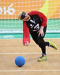 Brendan Gaulin, Rio 2016 - Goalball.<br /> Canadian men play Sweden in goalball // Les hommes canadiens affrontent la Suède au goalball. 13/09/2016.